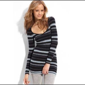 Free People Jagged Stripe Tunic Sweater. Medium.